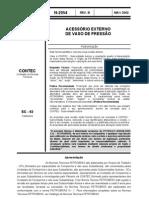N-02054-2002 - Acessório externo de vaso de pressão