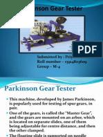 Parkinson Gear Tester Metrology