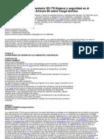 Decreto Reg Lament a Rio 351 79 Higiene y Seguridad en El Trabajo Articulo 60 Sobre Carga Termica