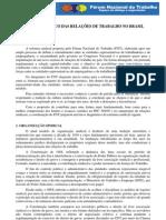 Diagnostico Das Relacoes de Trabalho No Brasil