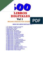500 Libros de La Literatura Universal Vol 1 Indice