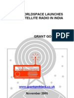 'WorldSpace Launches Satellite Radio In India' by Grant Goddard