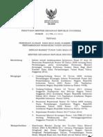 Permen Keuangan No. 1 Thn 2012