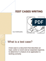 Test Cases Writing