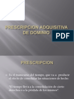 Prescripcion Adquisitiva de Dominio