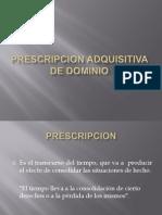 Prescripcion Adquisitiva de Dominio