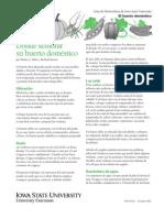El huerto doméstico hada verde