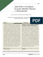 Comparação entre a contagem de plaquetas pelos métodos manual e automatizado, Newslab, 2007.