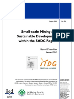 Small-Scale Mining and Sustainable Development Within the SADC Region