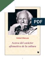 Marcuse Herbert Acerca Del Caracter Afirmativo de La Cultura