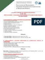 Tematica licenta Agroturism 2012