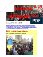 Noticias Uruguayas Domingo 29 de Abril de 2012