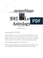 Summertime 2012 Love Astrology