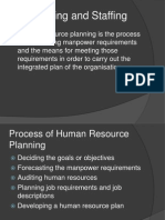HR Planning and Staffing