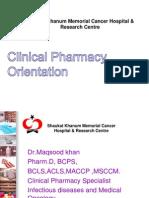 Dr.khan Clinical Pharmacy Orientation