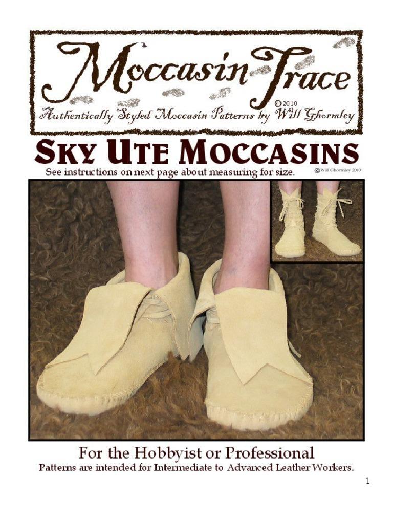 Sky Ute Moccasin Tutorial | Shoe | Seam (Sewing)