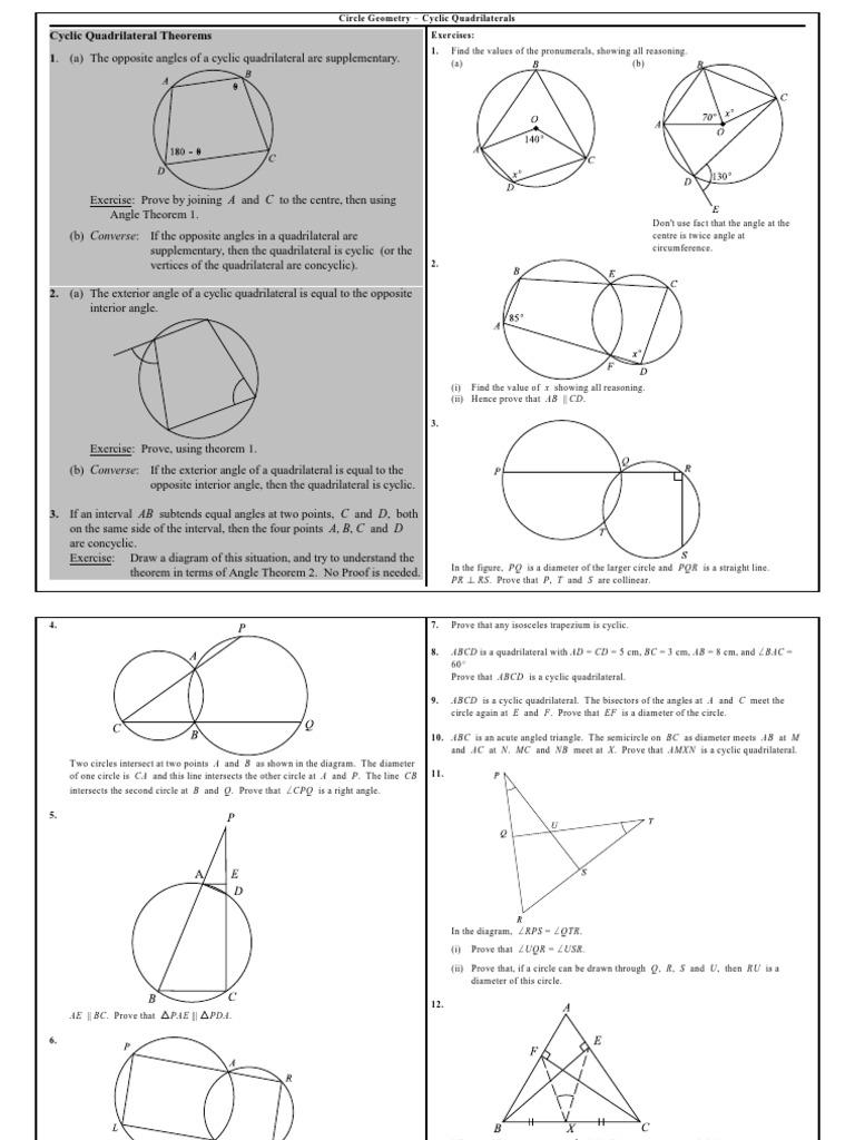 4 cyclic quadrilaterals circle euclidean geometry ccuart Choice Image