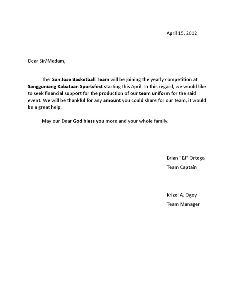 Solicitation letter sample for basketball uniforms textpoems charitable donation letter sample solicitation for thecheapjerseys Gallery