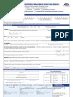 Cerfa 13750-03 Demande Certificat Immatriculation Vehicule 2011