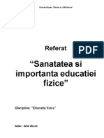 Referat Educatia fizica