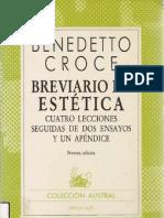 benedetto croce - breviario de estética (espasa-calpe s. a.-1985)