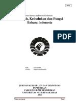Ringkasan Materi Bahasa Indonesia Keilmuan