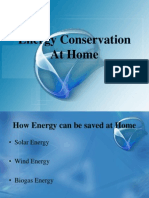 Energy Conservation at Home