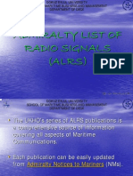 Admiralty List of Radio Signals (Alrs)