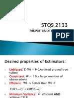 Properties of Estimators New Update Spin