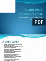 A Late Walk(Robert Frost)