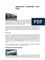 Tesco Case Study of Leadership