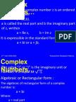 Complex Numbers Rev