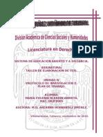 TALLER DE ELABORACIÓN DE TESIS  UNIDAD IV