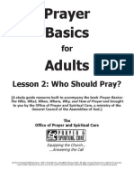 Prayer Basics Adult Lesson - Week Two