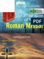 PYM-GYA (the 3rd Ed. of Roman Missal & Overview of the Mass)