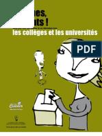 Directeur général des élections du Québec - Aux urnes, étudiants - Guide pour tenir une élection ou un référendum dans les collèges et les université