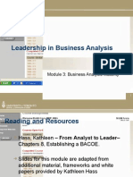 Module 3 - Mature Business Analysis Practices v.2