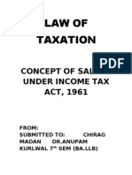 Concept of Salary Under Income Tax Act