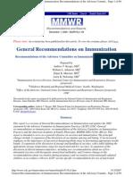 General Recommendation Immunization