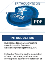 Further Thoughts on CRM