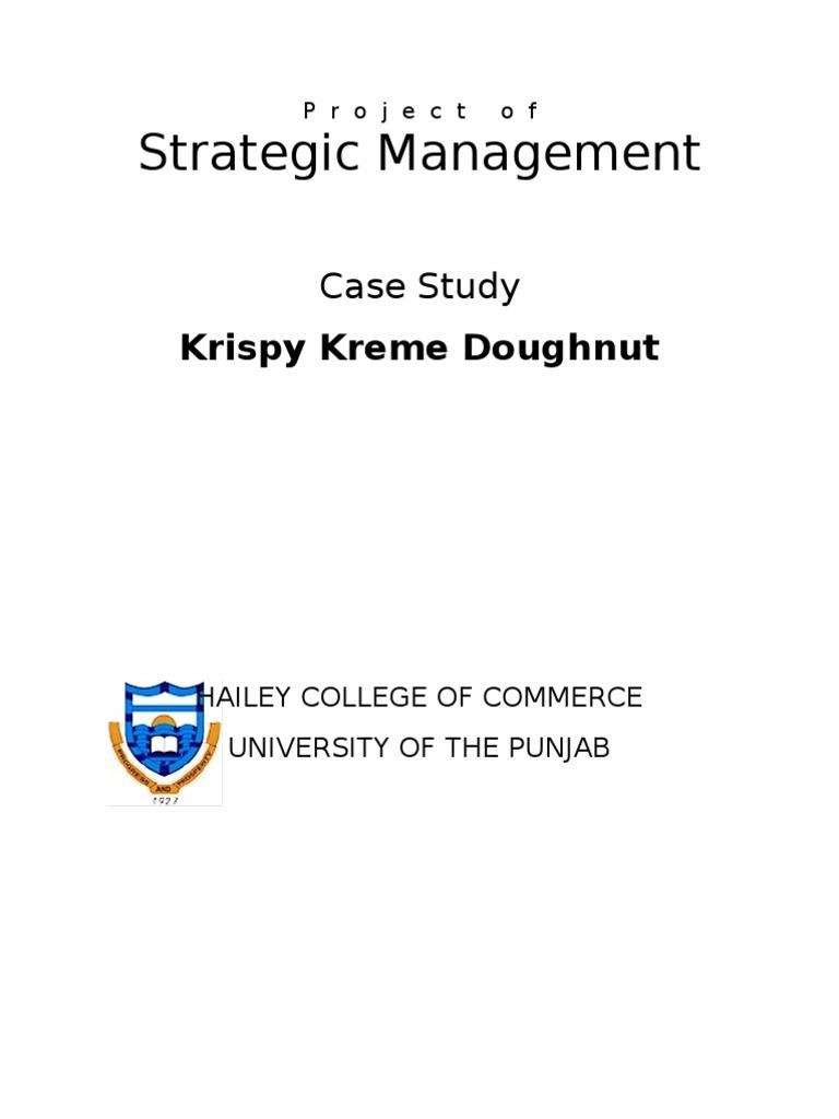 38118085 Case Study Krispy Kreme Doughnut Strategy Business Foods