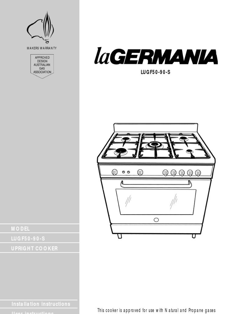 La Germania User Manual Grilling Oven