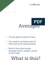 Averages - Get Clued up