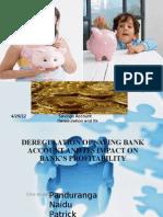 Deregulation of Savings Accounts