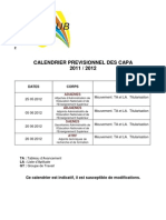 Calendrier CAPA 2011-12