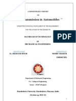 Minor Project Report on Power Transmission in Automobiles