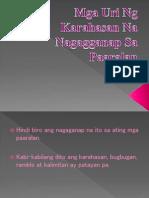 Mga Uri Ng Karahasan Na Nagagganap Sa Paaralan