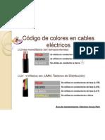 Código de colores en cables eléctricos