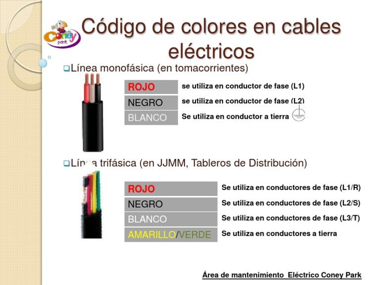 codigo de colores electricos pdf