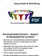 CCEA - AS - Health and Social Care - Environmental Factors - UNIT 3